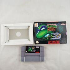 TMNT Teenage Mutant Ninja Turtles Tournament Fighters Super Nintendo SNES WOW