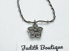 BRIGHTON  Karma FLOWER  Brown Cord  Charm Necklace Reversible