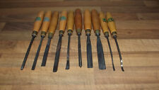 VERY NICE LOT OF 10 ACORN BRAND HENRY TAYLOR CARVING CHISELS