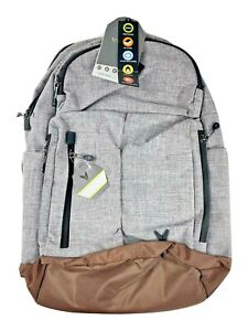 """New With Tags Bondka Jumpstreet Heather Grey Backpack -19.5"""" fits 15"""" Laptop"""