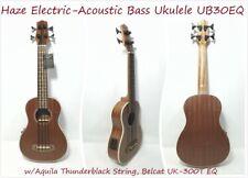 Haze Acoustic Bass Ukulele Belcat EQ Aquila Thunderblack String Mahogany. Ub30eq