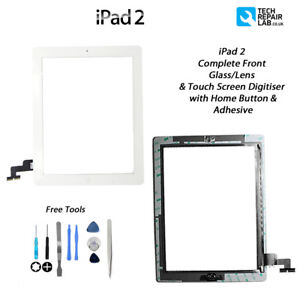 NEW iPad 2 Complete Front Glass/Digitiser Touch Screen Assembly w/Tools - WHITE
