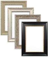 Ornate Shabby Chic Picture frame Photo frame Black White Grey or Walnut