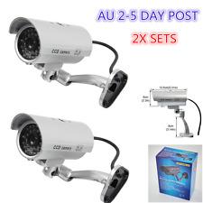 2 Set Flash LED Light Fake Dummy Camera Night Security Surveillance CCTV Outdoor