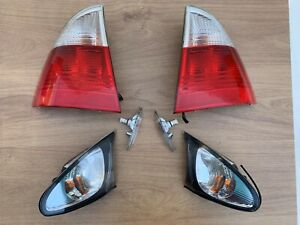 OEM BMW  E46 WAGON ESTATE TOURING CLEAR REAR TAIL LIGHTS Front Indicators SET