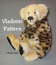 "Mohair or Plush ""Vladimir"" Teddy Bear Pattern by Neysa A. Phillippi Purely Neysa"