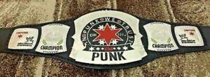 WWE CM PUNK Wrestling Championship Leather Belt Replica (4mm Plate)adult Size
