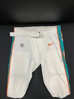 #64 MIAMI DOLPHINS NIKE GAME USED WHITE PANTS 2019/2020 SEASON WITH BELT