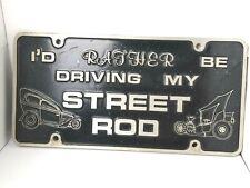 VINTAGE METAL STREET HOT ROD CAR PLAQUE LICENSE PLATE Car Racing OBrien Trucking