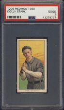 1909-11 T206 Piedmont Dolly Stark PSA 2 San Antonio Bronchos Southern League