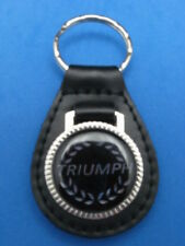 TRIUMPH LEATHER AUTO KEYCHAIN KEY CHAIN RING FOB NEW #212