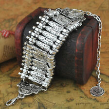 Boho Turkish Gypsy Silver Ethnic Tribal Ethnic Statement Bracelet Antique Hot