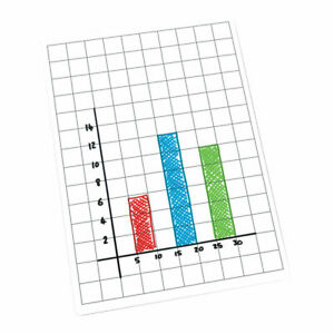 Gridded A4 Whiteboards - Grid and Blank Sides, Pack of 30 - School Work Maths