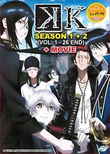 DVD Anime K (K-Project) Series Complete Season 1+2 +Movie (1-26 End) English Sub