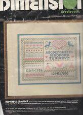 Vintage 1985 Dimensions Needlepoint Alphabet Sampler Kit #2293