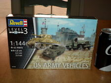 WW#2, US ARMY VEHICLES, Plastic Model Kit, Scale: 1/144, #2 EACH =TOTAL OF #6