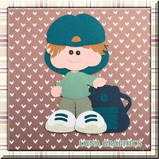 CUTIE PATOOTIE SCHOOL BOY Embellishments Paper Piecing scrapbooking