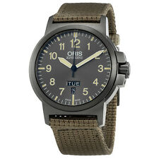Oris BC3 Advanced Grey Dial Automatic Mens Textile Watch 01 735 7641 4263-07 5