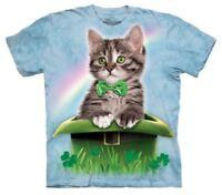 The Mountain Men's Big & Tall Print Irish Kitten in Hat T-Shirt 2X-3X-4X-5X NWT