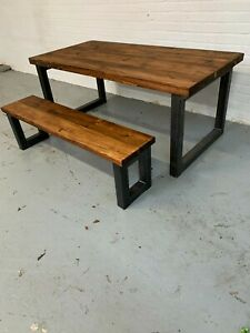 Chunky Table and Bench Set