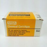 MSA Chemical Cartridges GMC Type Part No. 464046 7 Cartridges New Open Box