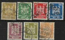 Germany 1924 set of 7 Reich eagles