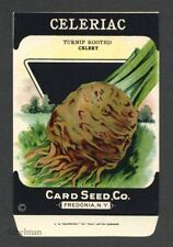 CELERIAC, Turnip Rooted, Antique Seed Packet, Card Seed, Country Store, 076