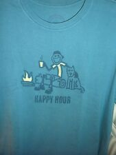 "LIFE IS GOOD MEN S/S TEE ""HAPPY HOUR BREAK""  FOR THE CAMPER  IN YOUR LIFE...(L)"