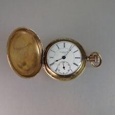 Seltene schwere Savonette Taschenuhr Washington V.S.H. um 1880 (52218)
