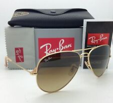 Ray-Ban Sunglasses RB 3025 Large Metal 112/85 58-14 Matte Gold w/ Brown Gradient