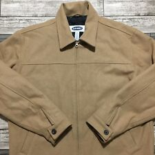 Old Navy Full Zip Beige Wool Jacket Men's Size L Heavy Weight