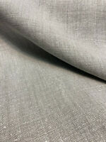 100% Linen Highland Silver Gray Belgian Fabric By the Yard