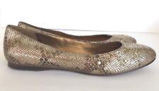 Circa JOAN & DAVID Women's 10 Leather Shoes Flats Snake Skin Metallic Studded