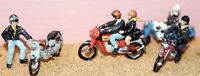 Motorcycles riders Rockers F165 UNPAINTED OO Scale Langley Model Kit 1/76 Metal