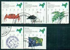 CHRISTMAS ISLAND 470-72 SG634-38 Used 2008 Territorial Status set Cat$12