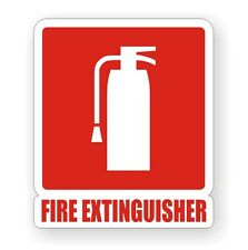 Fire Extinguisher Vinyl Decal / Sticker / Label Camper Van RV Boat Truck 4x4