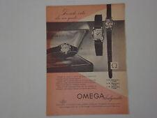 advertising Pubblicità 1956 OROLOGIO OMEGA LADYMATIC