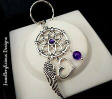Beautiful Purple Dream Catcher Of LOVE Keyring Key Ring