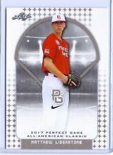 """MATTHEW LIBERATORE 2017 """"1ST EVER PRINTED"""" PERFECT GAME AAC ROOKIE CARD"""