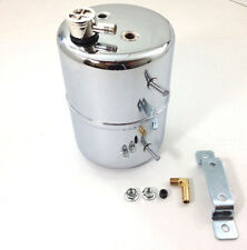 Chrome Vacuum Canister Reservoir Brake Booster Can with Check Valve & Hardware