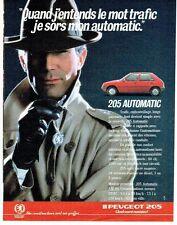 PUBLICITE ADVERTISING 0217  1986  la Peugeot 205 automatic AM86