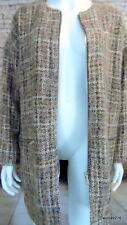 "funky check tweedy woolly zip front jacket coat 54"" chest"