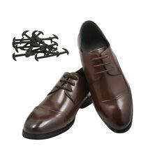 Lazy No Tie Elastic Silicone  Leather Shoe Laces Shoelaces 1 Set/12Pcs 3 Colours