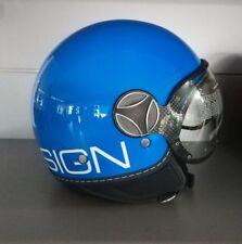 Casco MomoDesign Fighter Glam Blu Cobalto lucido Outline bianca - 48