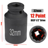 12 Point 32mm 1/2'' Drive Deep Impact Socket Bi Hex  Nut For Fiat for