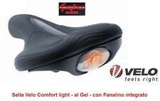 2141 - SELLA VELO COMFORT LIGHT GEL CON LUCE LED PER BICI 20/24/26/28 CRUISER