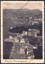 NAPOLI SORRENTO 33 MARINA GRANDE Cartolina viaggiata 1938
