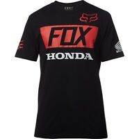 Maglietta T-shirt Fox Honda HRC Basic Standard Nero Black Team Gariboldi Gajser