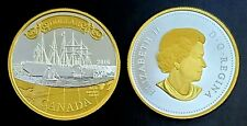 Canada 2016 Transatlantic Cable 150th Gold Plated Fine Silver Proof Dollar!!