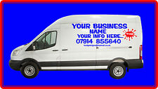 LARGE CUSTOM VAN VEHICLE GRAPHICS SIGN WRITING KIT DECALS LETTERING STICKERS